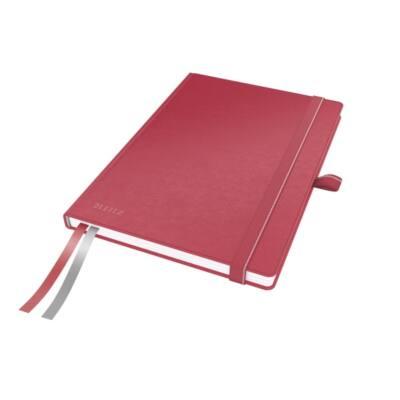 Jegyzetfüzet LEITZ Complete A/5 80 lapos kockás piros