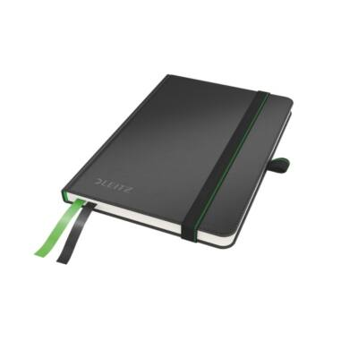Jegyzetfüzet LEITZ Complete A/6 80 lapos kockás fekete