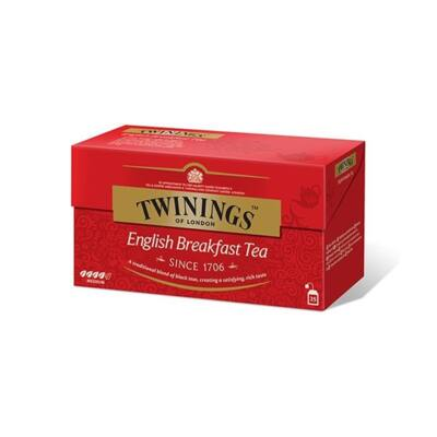 Fekete tea TWININGS English Breakfast 25x2gr